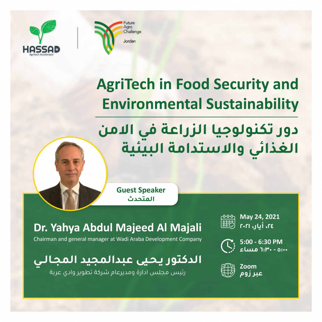 AgriTech in Food Security and Environmental Sustainability Webinar by Hassad